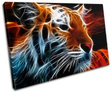 Tiger Abstract wild Animals - 13-0143(00B)-SG32-LO